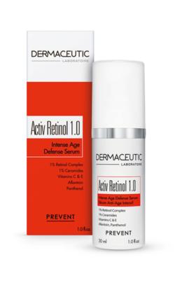 Dermaceutic Activ Retinol 1.0 - Box and Bottle - Huid & Laser Utrecht