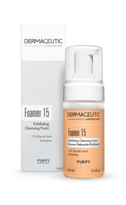 Dermaceutic Foamer 15 - Box and Bottle - Huid-&-Laser-Utrecht